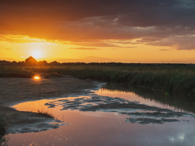 Sunset at Saltfleet Lincolnshire